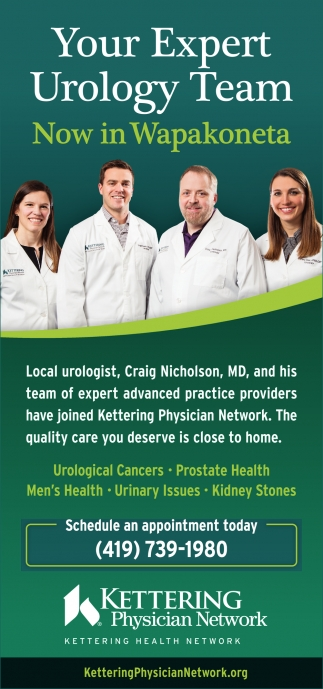 Your Expert Urology Team - Now in Wapakoneta