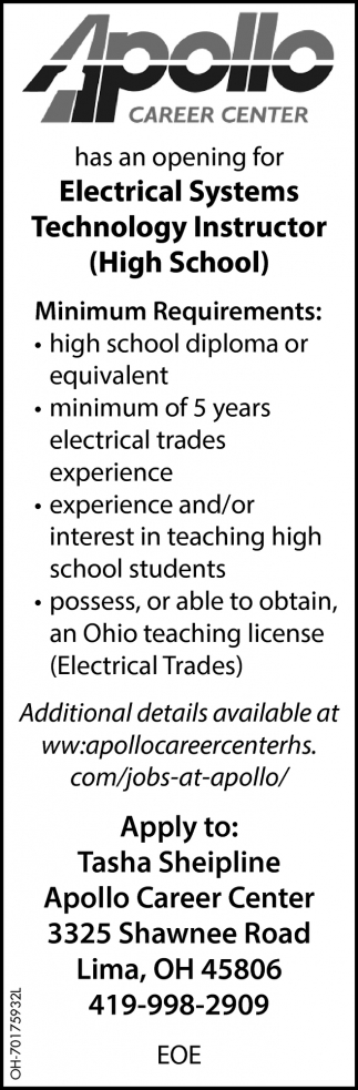 Electrical Systems Technologist Instructor