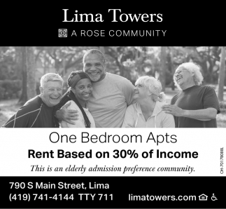 One Bedrooms Apts - Rent Based on 30% of Income