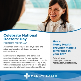 Celebrate National Doctor's Day