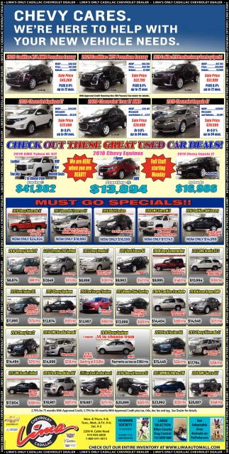 We're Here to Help with Your New Vehicle Needs
