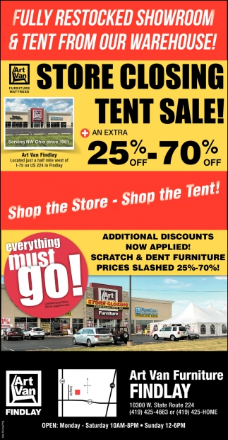Store Closing Tent Sale!