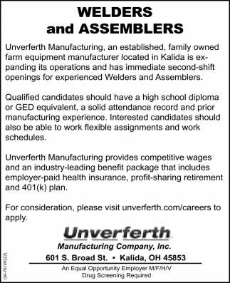 Welders and Assemblers