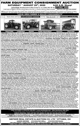 Farm Equipment Consignment Auction