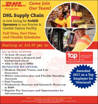 Forklift Operators Dhl Supply Chain P G Dayton Vandalia Oh