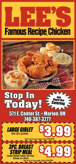 Stop In Today!