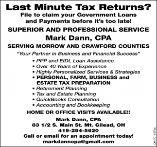 Last Minute Tax Returns?