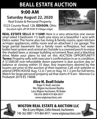 Beall Estate Auction