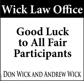 Good Luck to All Fair Participants