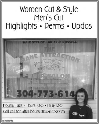 Arielle Russell, Mane Attraction Hair Salon, Mason, WV