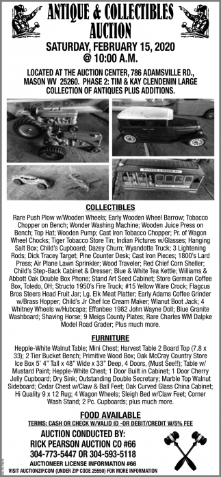 antique & Collectibles Auction - February 15
