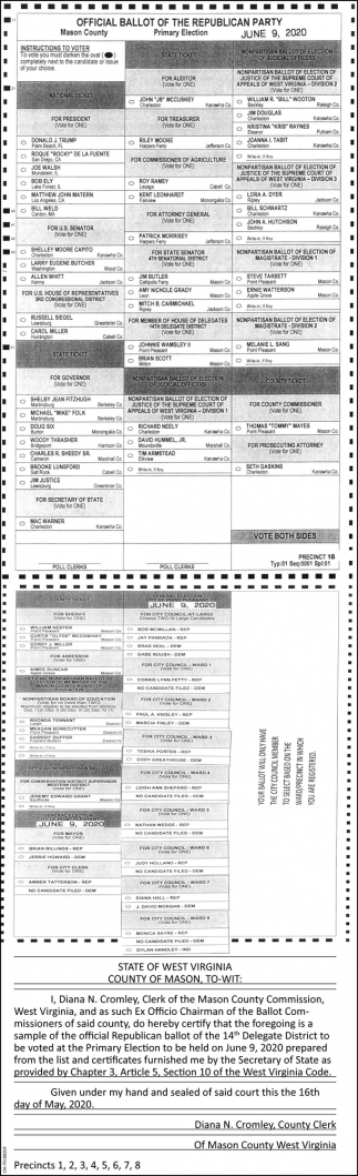 Official Ballot of the Republican Party