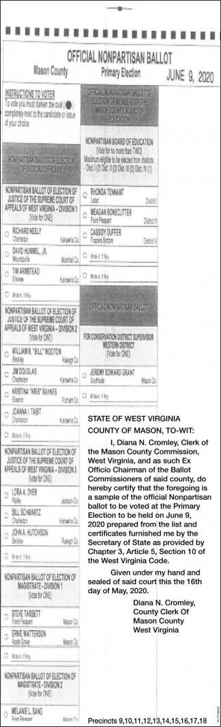 Official Nonpartisan Ballot