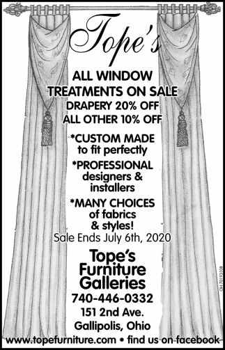 All Window Treatments On Sale