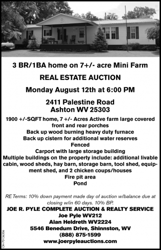 Real Estate Auction - August 12th