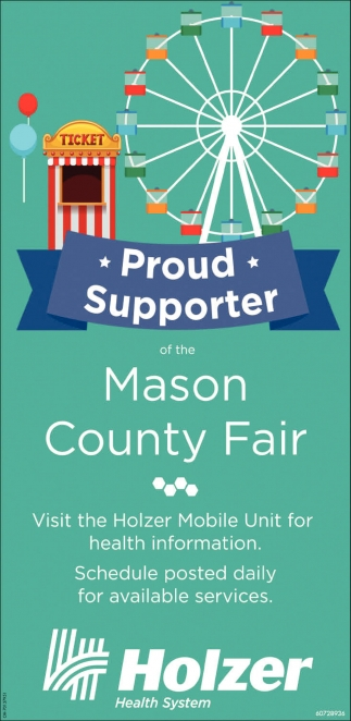 Proud Supporter of the Mason County Fair