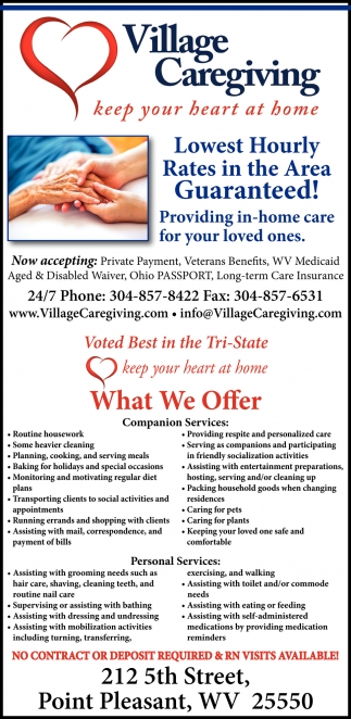 Providing in-home care for your loved ones
