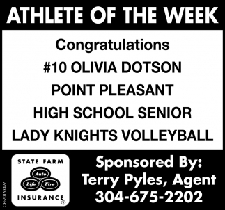 Olivia Dotson  - Athlete of the Week