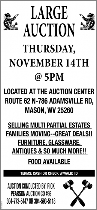 Large Auction - November 14th