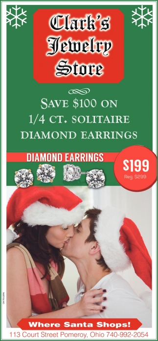 Save $100 On 1/4 Ct. Solitaire Diamond Earrings