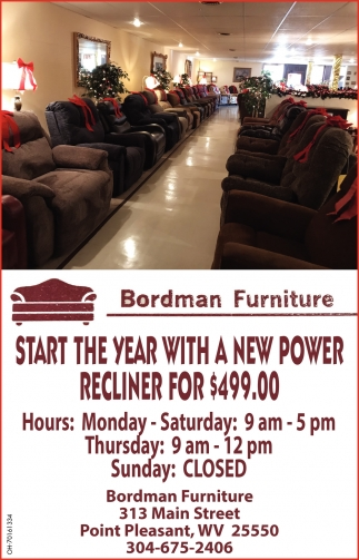 Star The Year With a New Power Recliner For $499.00