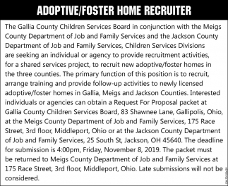 Adoptive/Foster Home Recruiter