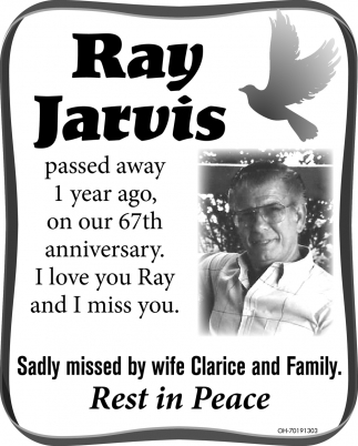 Ray Jarvis Gallipolis Daily Tribune In Memory Gallipolis Oh