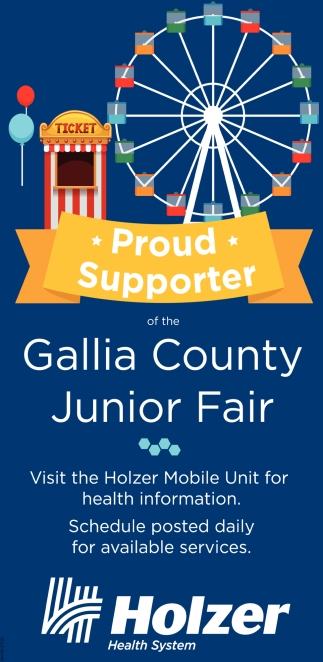 Proud Supporter of the Gallia County Junior Fair