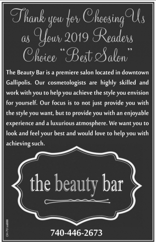 Thank you for Choosing Us a Your 2019 Readers Chice Best Salon