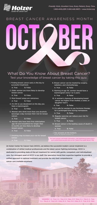 October - Breast Cancer Awareness Month