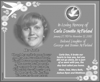 In loving Memory of Carla Donette McFarland