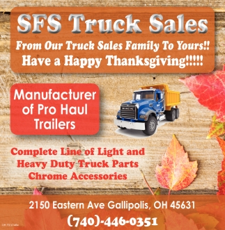 From Our Truck Sales Family To Yours!