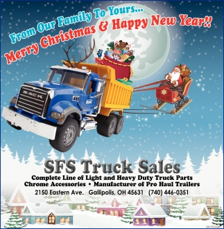 From Our Truck Sales Family To Yours... Merry Christmas & Happy New Year!