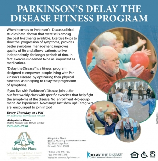 Parkinson's Delay The Disease Fitness Program