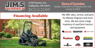 We offer sales, service, and parts for Massey Ferguson and much more