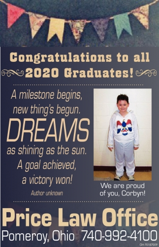 Congratulations to All 2020 Graduates