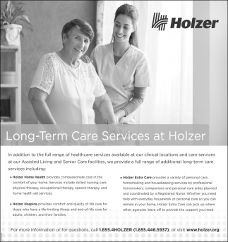 Long-Term Care Services at Holzer
