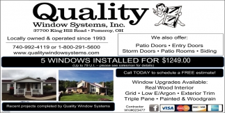 5 Windows installed for $1249