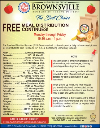 Free Meal Distribution Continues!