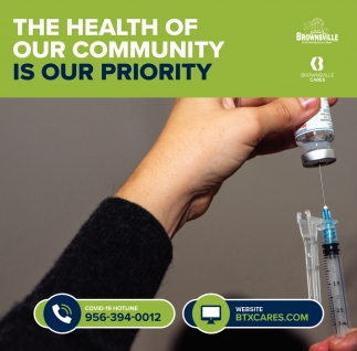 The Health Of Our Community Is Our Priority