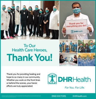 To Our Health Care Heroes, Thank You!
