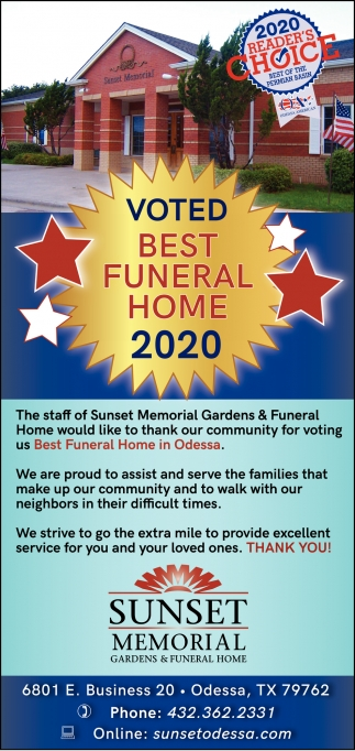 Voted Best Funeral Home 2020