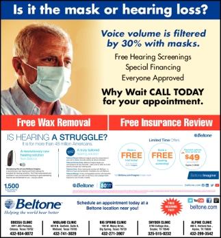 Is It The Mask Or Hearing Loss?