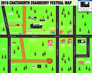 2019 Chatsworth Cranberry Festival Map