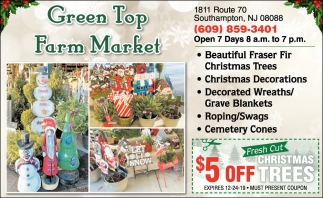 $5 Off Christmas Trees