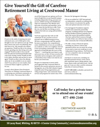 Give Yourself The Gift Of Carefree Retirement Living At Crestwood Manor