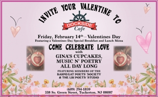 Invite Your Valentine To Dockside Cafe