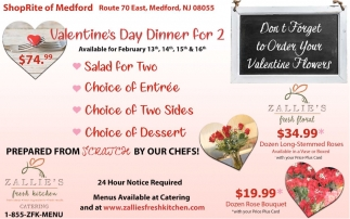 Valentine's Day Dinner For 2