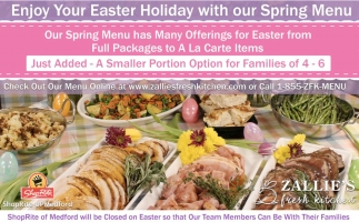 Enjoy Your Easter Holiday With Our Spring Menu