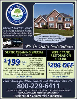 We Do Septic Installations!